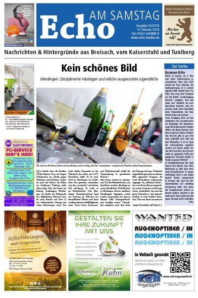 E Paper Cover Echo Medien Ausgabe 03 2018