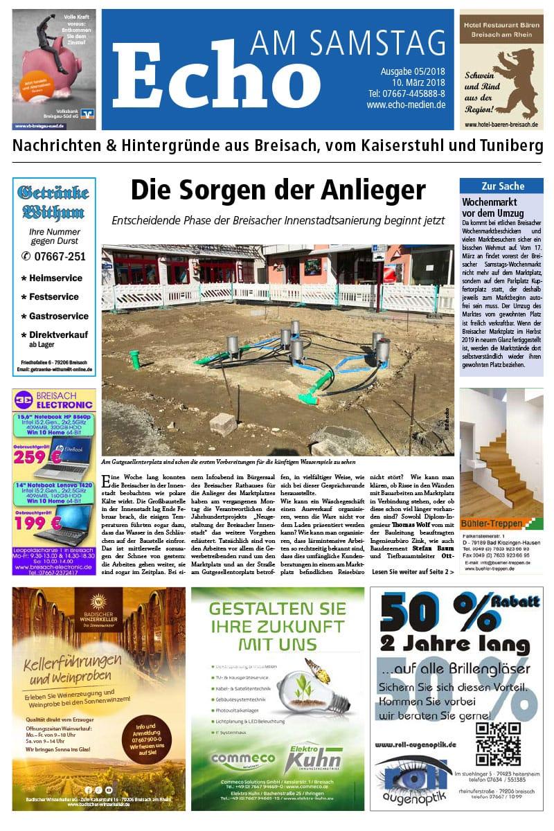 E Paper Cover Echo Medien Ausgabe 05 2018