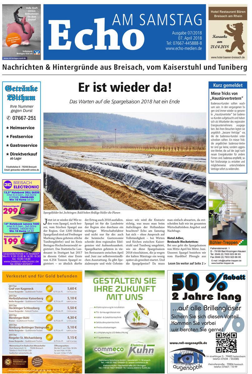 E Paper Cover Echo Medien Ausgabe 07 2018