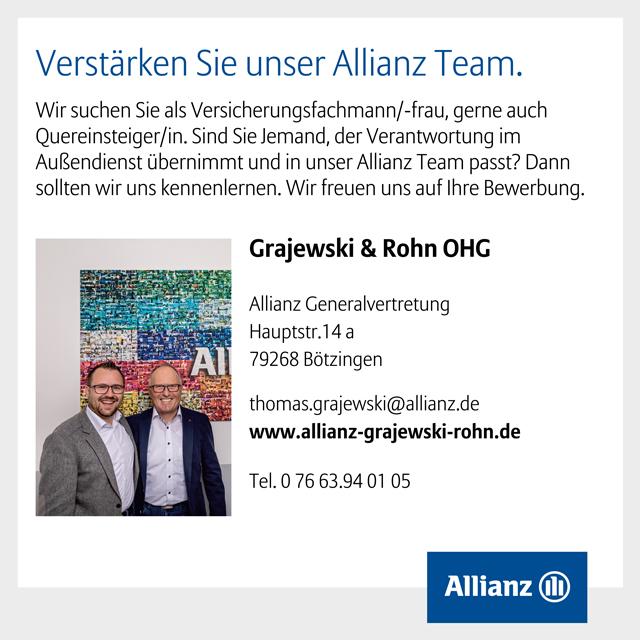 Anzeige Allianz Team