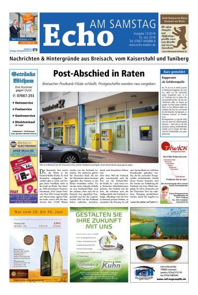 E Paper Cover Echo Medien Ausgabe 12 2018