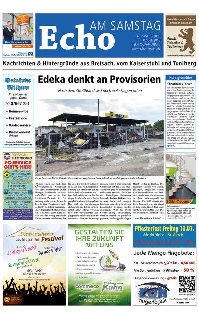E Paper Cover Echo Medien Ausgabe 13 2018