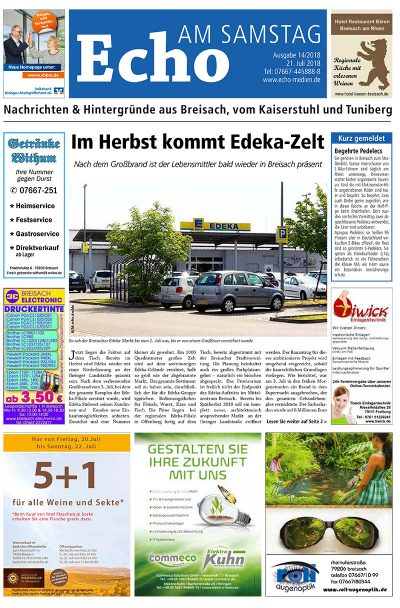 E Paper Cover Echo Medien Ausgabe 14 2018
