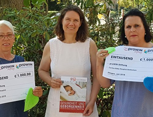Spendenaktion mit Herz – Charity-Wettbewerb von proWIN erreicht Kinder im Caritas Baby Hospital