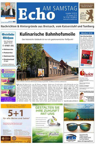 E Paper Cover Echo Medien Ausgabe 16 2018