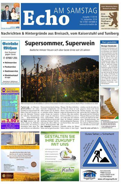 E Paper Cover Echo Medien Ausgabe 17 2018