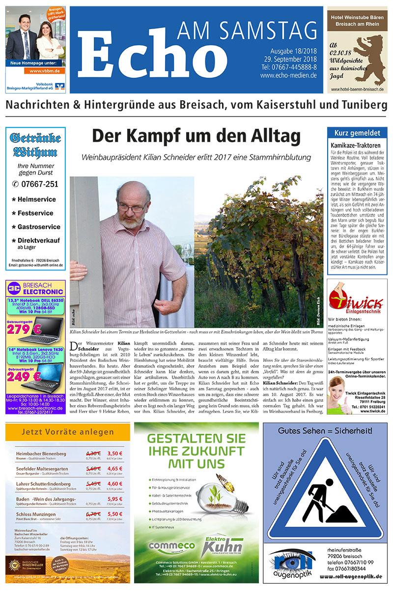 E Paper Cover Echo Medien Ausgabe 18 2018