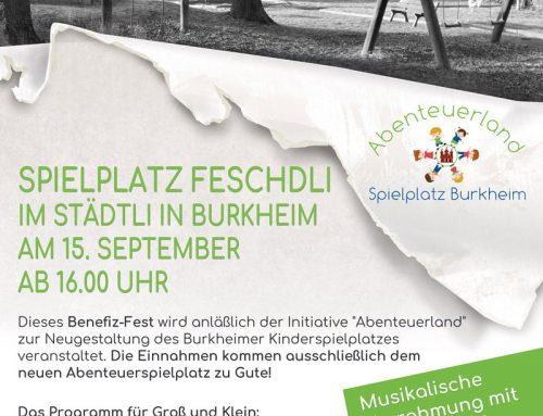 Spielplatzfest in Burkheim am 15. September ab 16 Uhr