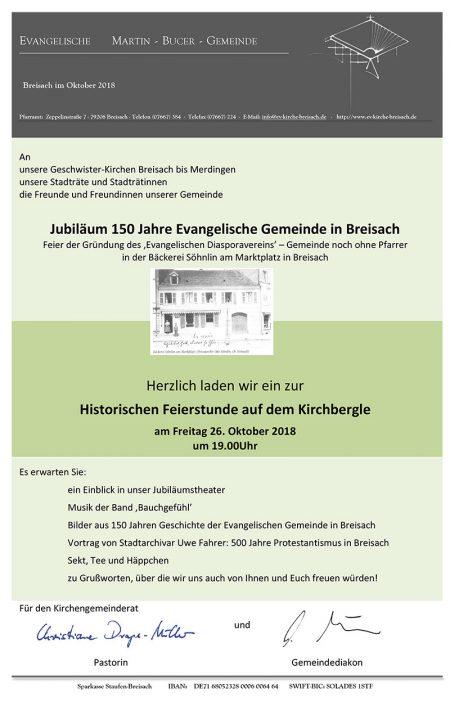 Einladung Evangelische Kirche Breisach