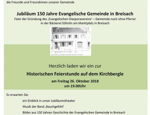 Jubiläum 150 Jahre Evangelische Gemeinde Breisach