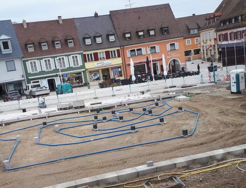 Wasserspiele am Marktplatz eröffnen voraussichtlich Frühjahr/Sommer 2019