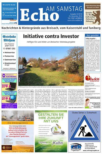 E Paper Cover Echo Medien Ausgabe 22 2018