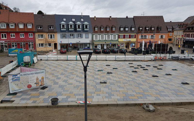 Baustelle Marktplatz Breisach