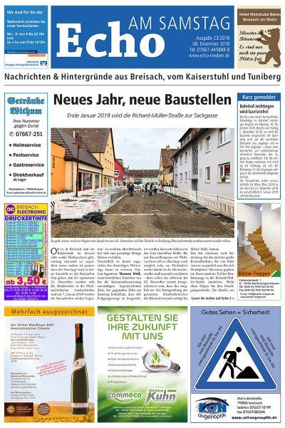 E Paper Cover Echo Medien Ausgabe 23 2018