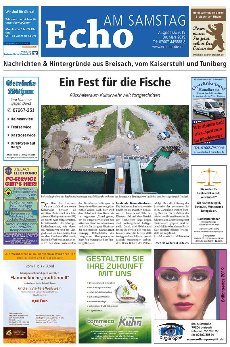 E Paper Cover Echo Medien Ausgabe 06 2019