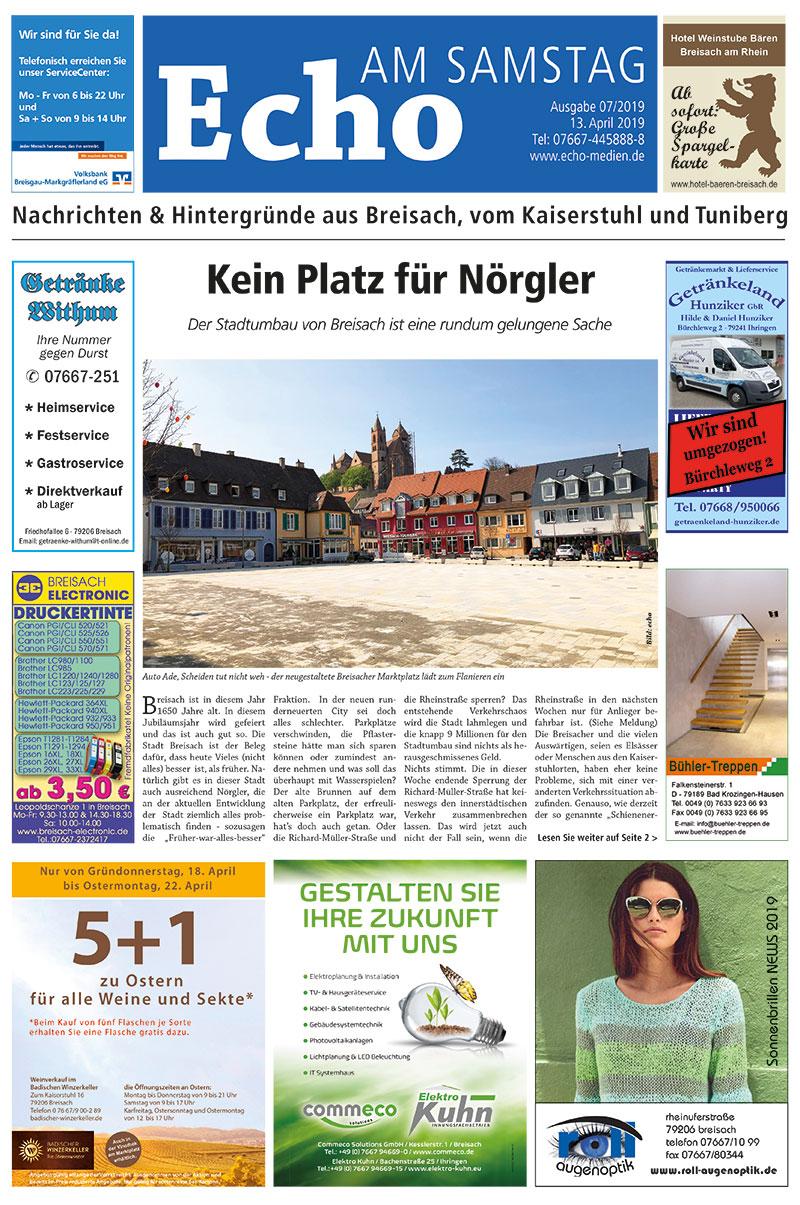 E Paper Cover Echo Medien Ausgabe 07 2019