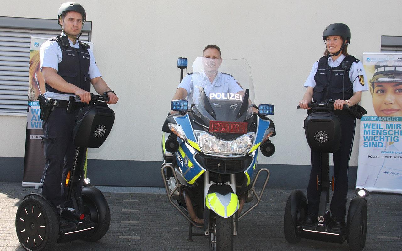 Segways Polizei Leistungsschau Breisach