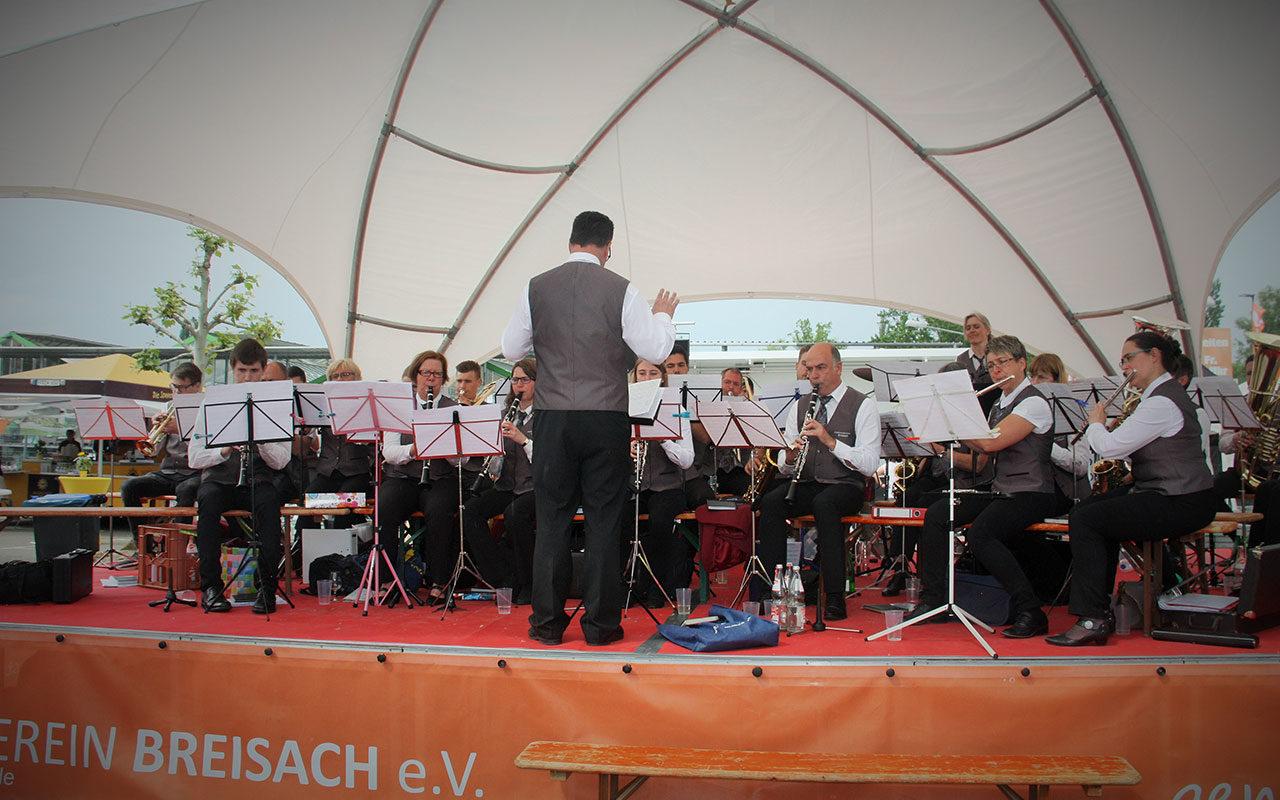 Stadtmusik Eroeffnung Leistungsschau Breisach