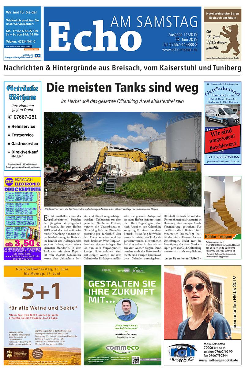 E Paper Cover Echo Medien Ausgabe 11 2019