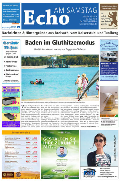 E Paper Cover Echo Medien Ausgabe 12 2019