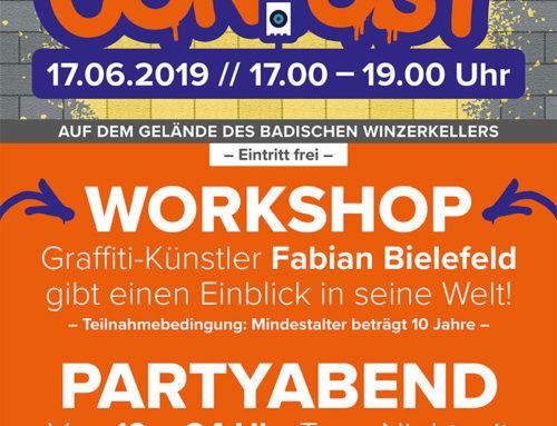 Graffiti Contest und Partyabend für die Jugend