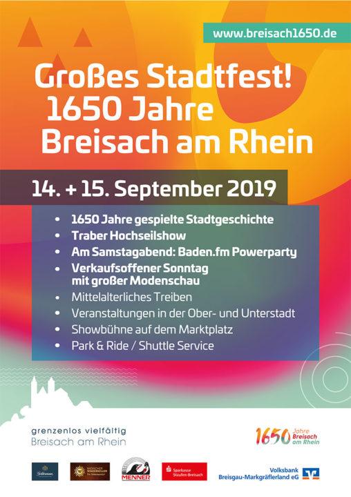 1650 Stadtfest Plakat