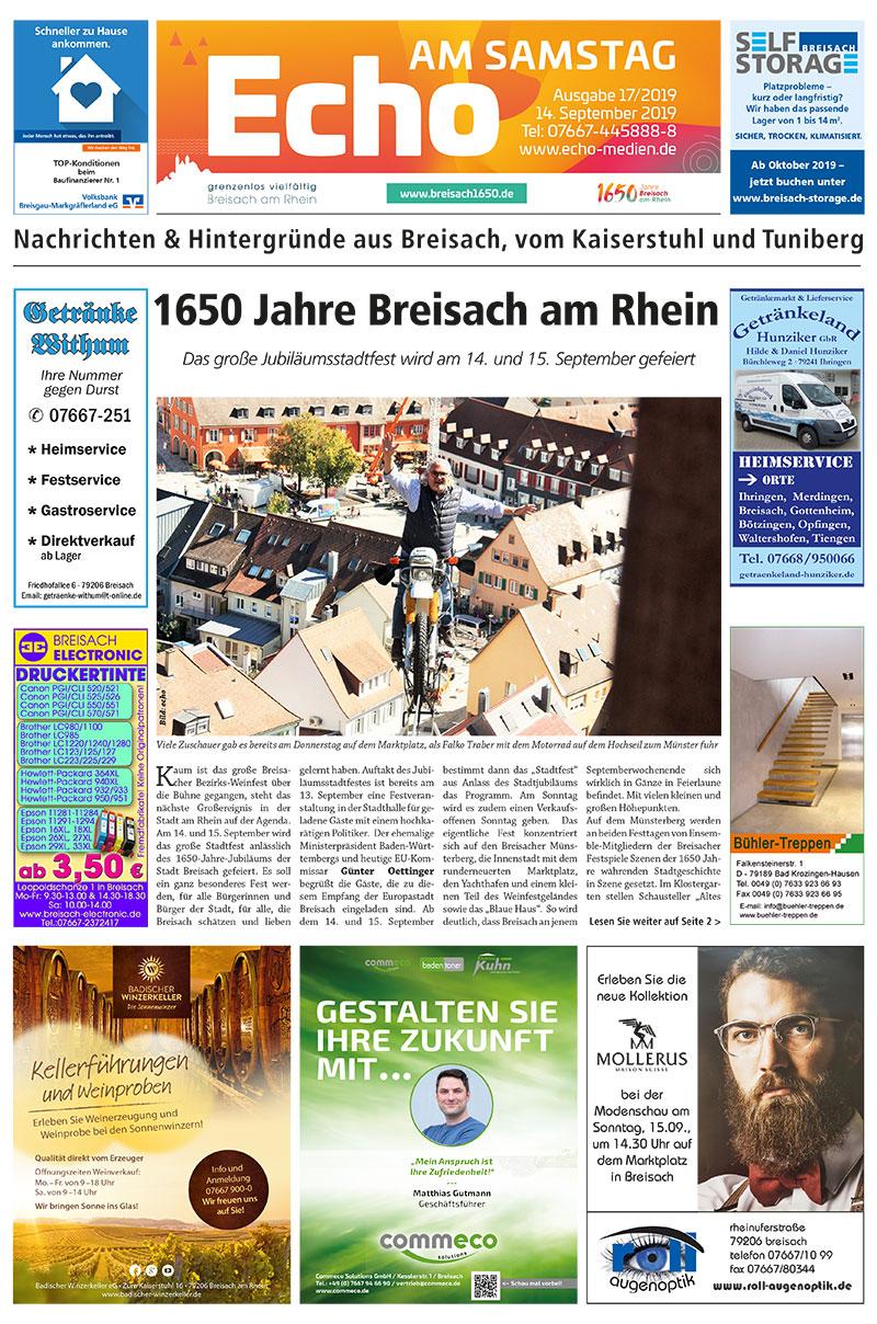 E Paper Cover Echo Medien Ausgabe 17 2019