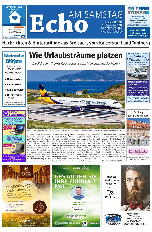 E Paper Cover Echo Medien Ausgabe 18 2019