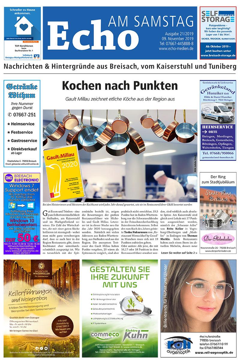 E Paper Cover Echo Medien Ausgabe 21 2019