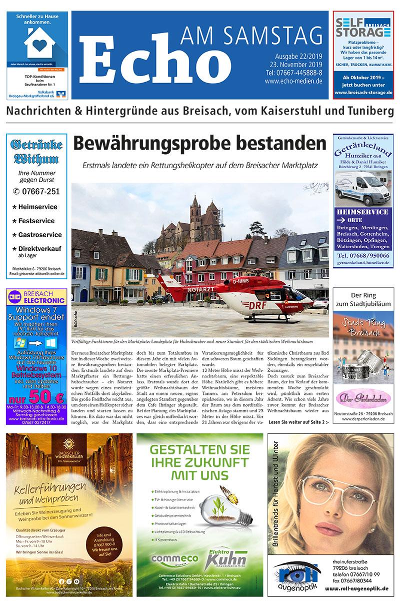 E Paper Cover Echo Medien Ausgabe 22 2019