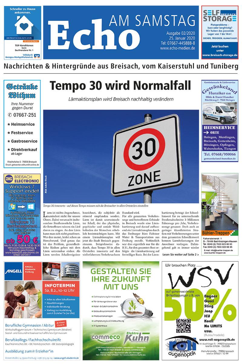E Paper Cover Echo Medien Ausgabe 02 2020