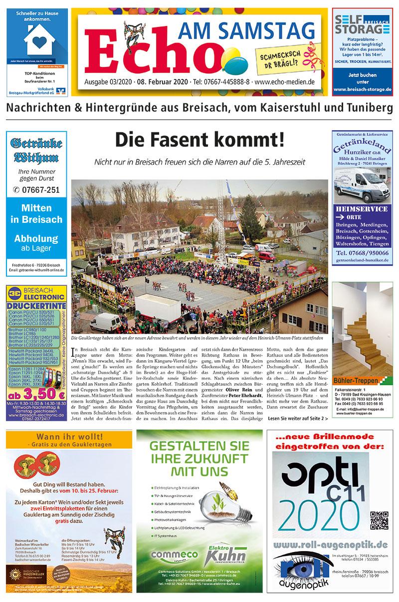 E Paper Cover Echo Medien Ausgabe 03 2020