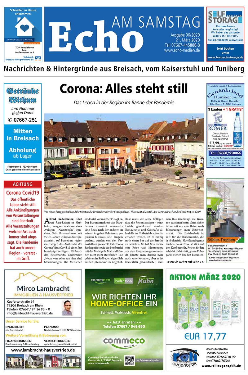 E Paper Cover Echo Medien Ausgabe 06 2020