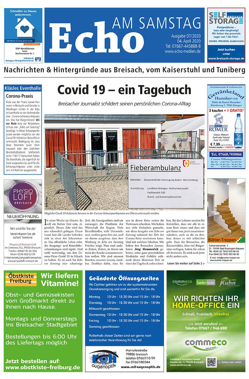 E Paper Cover Echo Medien Ausgabe 07 2020