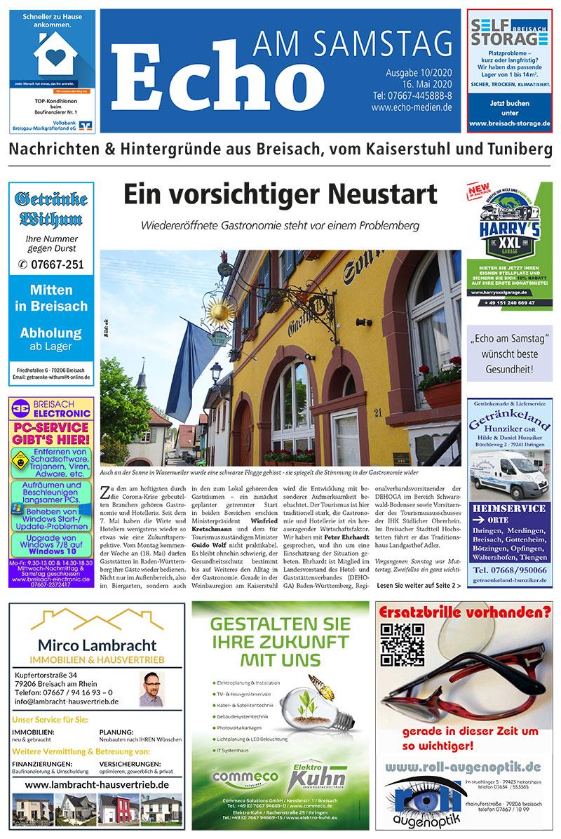 E Paper Cover Echo Medien Ausgabe 10 2020