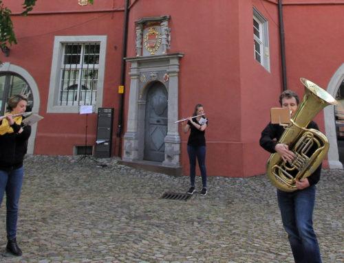 Mitglieder der Stadtkapelle musizierten am 1. Mai