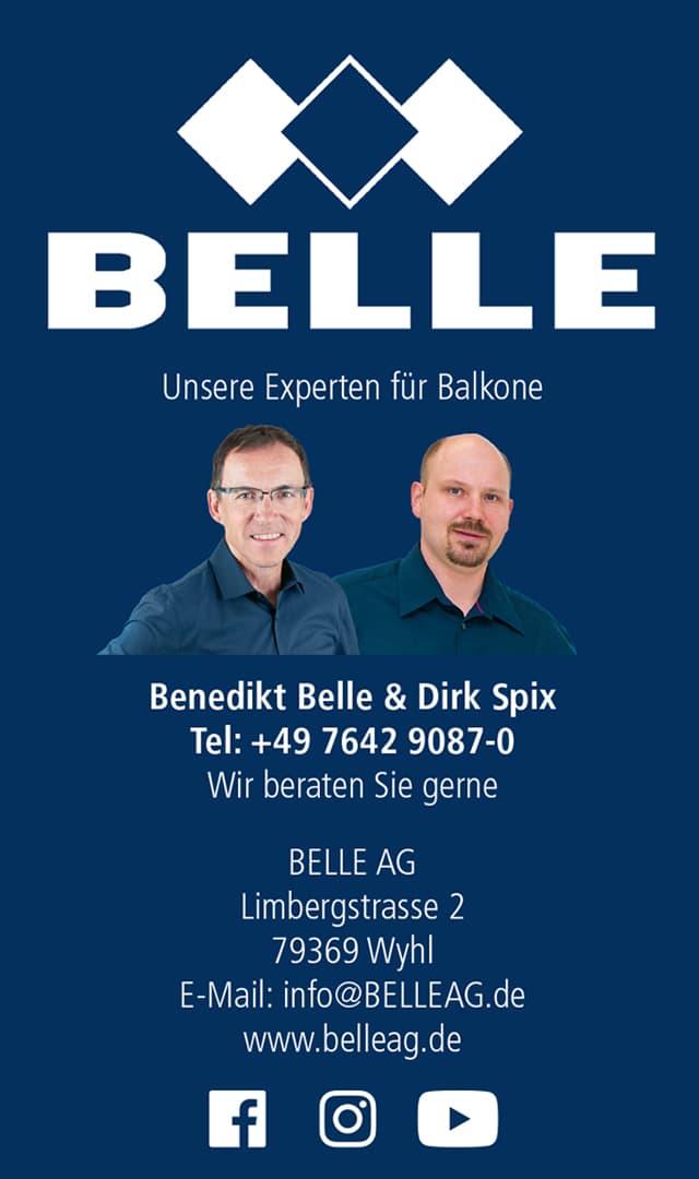 Werbung Belle Ag