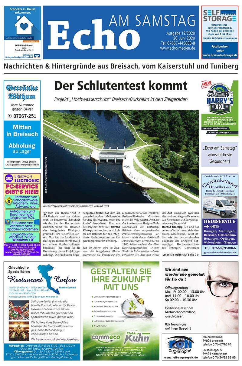 E Paper Cover Echo Medien Ausgabe 12 2020