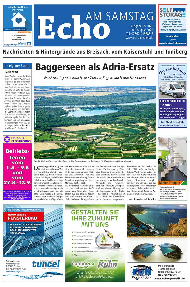 E Paper Cover Echo Medien Ausgabe 15 2020