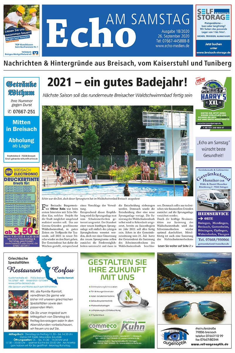 E Paper Cover Echo Medien Ausgabe 18 2020