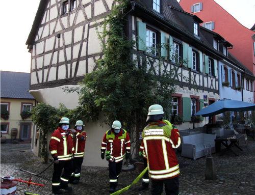 Feuerwehreinsatz in der Burkheimer Mittelstadt