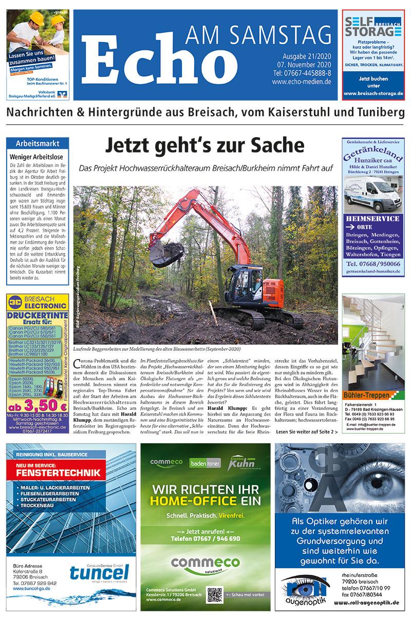 E Paper Cover Echo Medien Ausgabe 21 2020