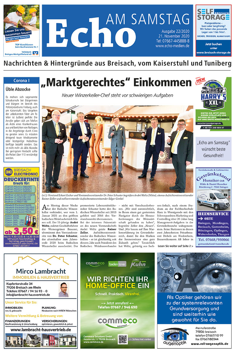 E Paper Cover Echo Medien Ausgabe 22 2020