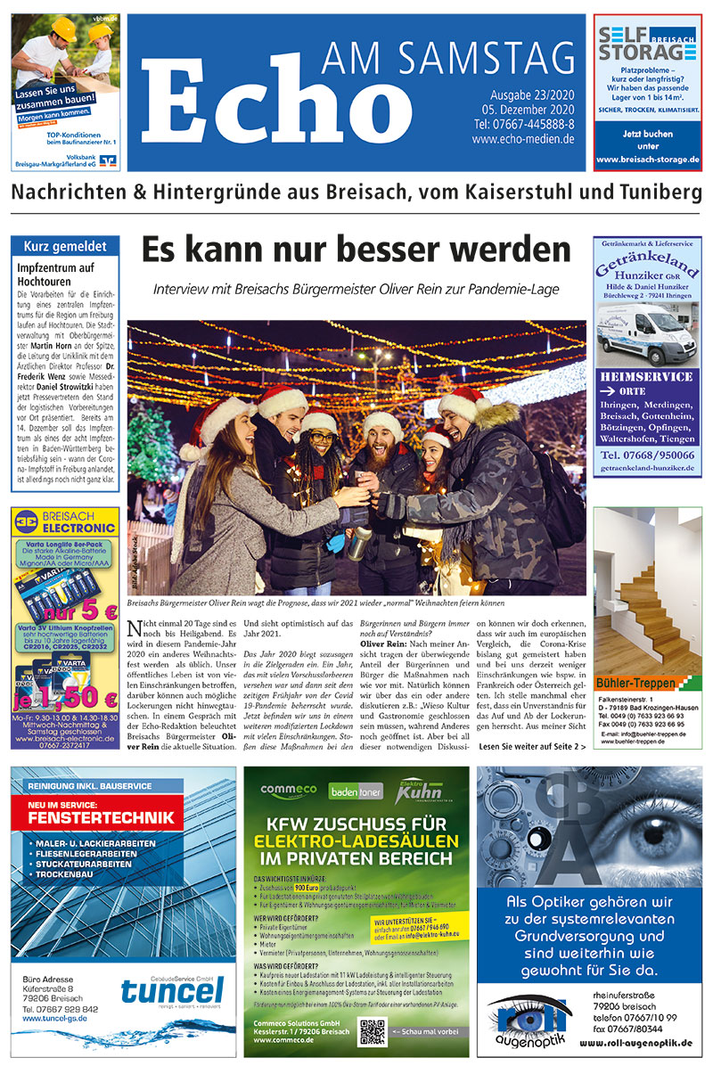 E Paper Cover Echo Medien Ausgabe 23 2020