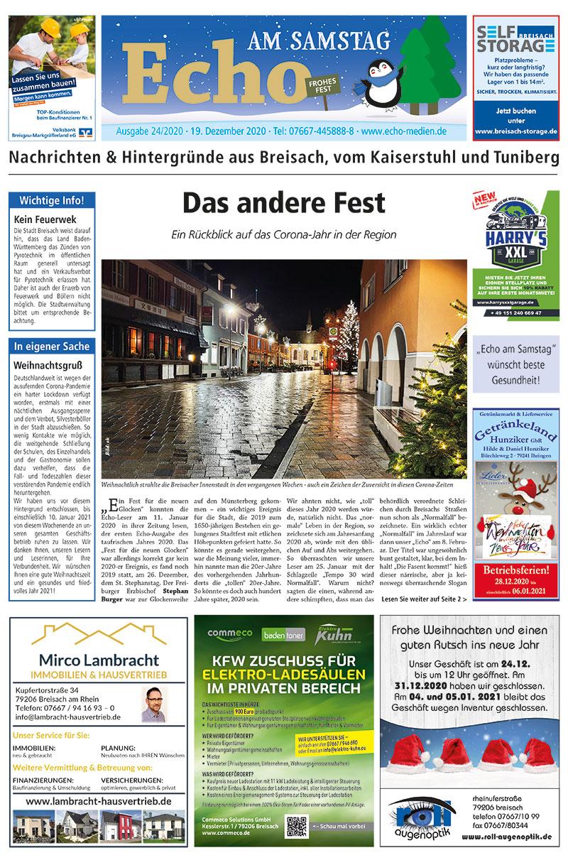 E Paper Cover Echo Medien Ausgabe 24 2020