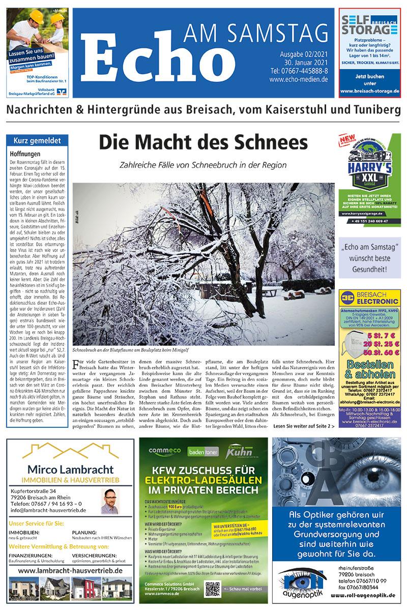 E Paper Cover Echo Medien Ausgabe 02 2021