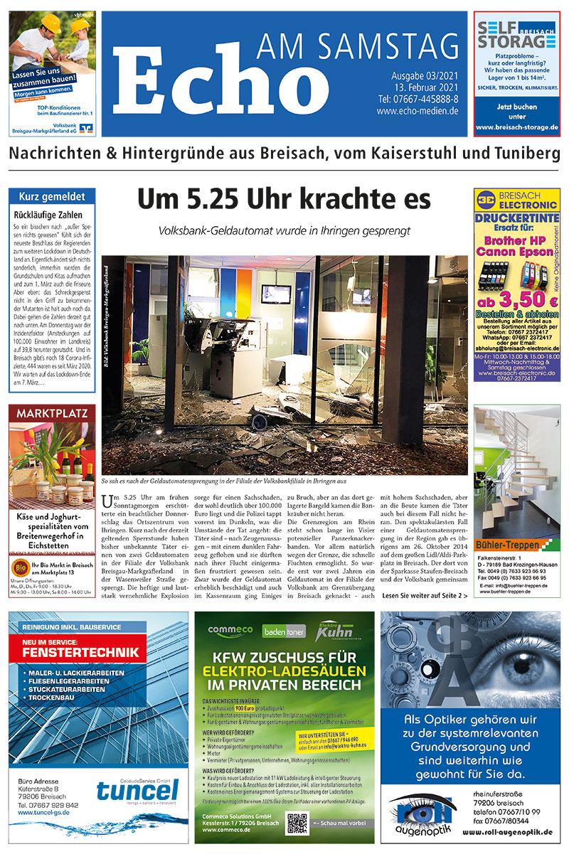 E Paper Cover Echo Medien Ausgabe 03 2021