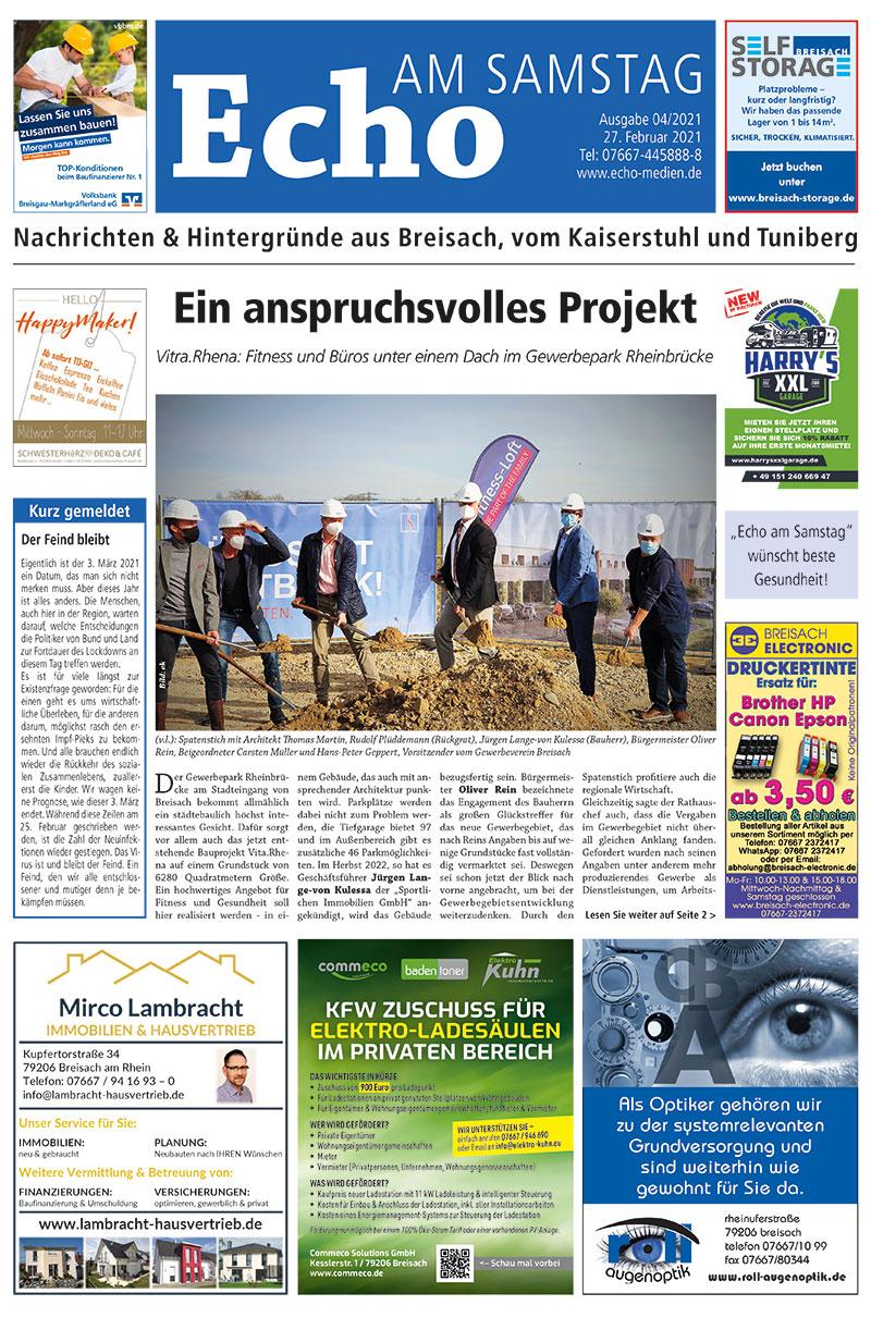 E Paper Cover Echo Medien Ausgabe 04 2021