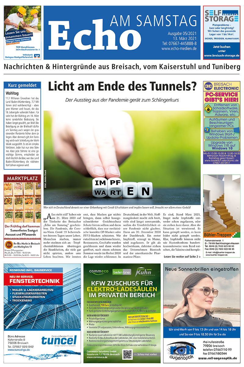 E Paper Cover Echo Medien Ausgabe 05 2021