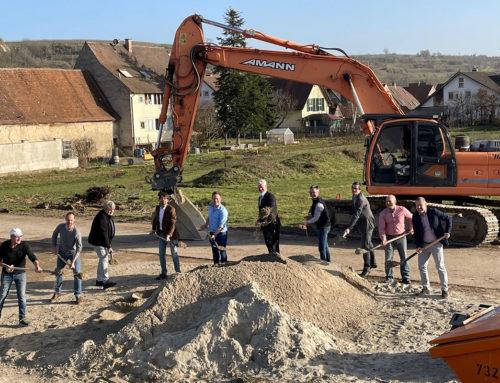 """Spatenstich im Baugebiet """"Gässle"""" in Niederrimsingen"""